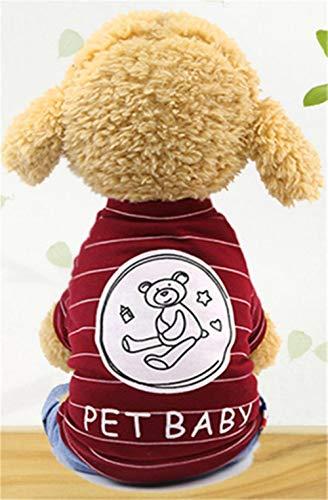 PONNMQ Automne Vêtements De Chien pour Chien Combinaison pour Chien Combinaison pour Animaux Chien Chat Vêtements pour Chien Manteau Épais Animaux Chiens Vêtements Chihuahua York, 8, M