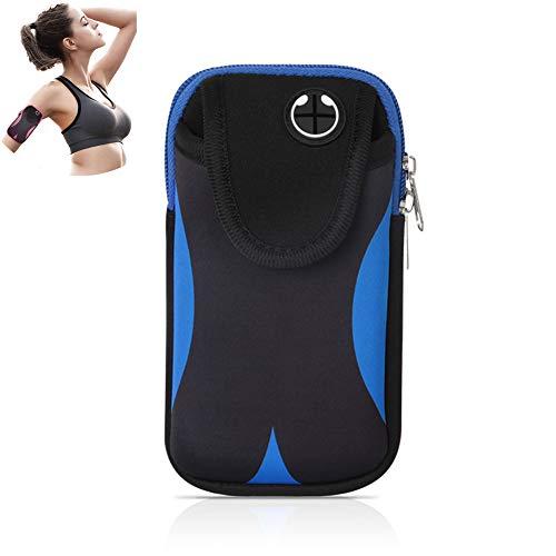 Estojo ThreeH para celular com braçadeira, esportivo, à prova d'água, para celular de 6,5 polegadas, para corrida, feminino e masculino