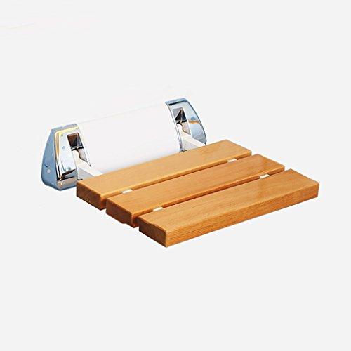 IAIZI - Silla de baño plegable para montar en la pared, asiento plegable para ducha, asiento de baño de pared, asiento de baño