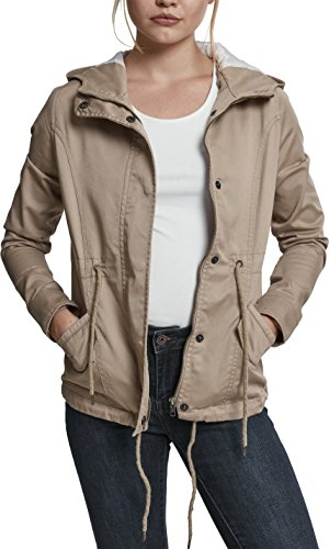 Urban Classics Ladies Basic Cotton Parka, Beige (Sabia 208), S Donna