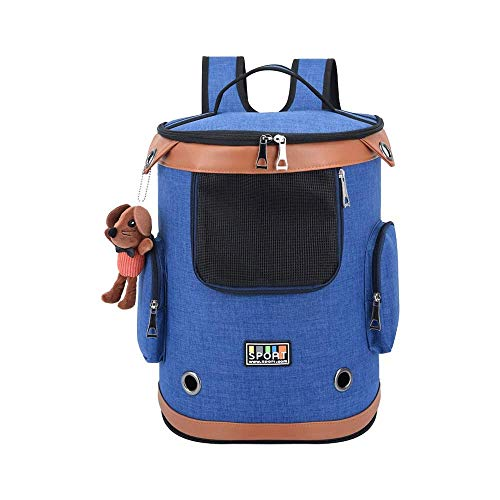 MAILESPET Dog Carrier Backpacks Foldable Spacious Pet Carrying bag for Bike Hiking Blue