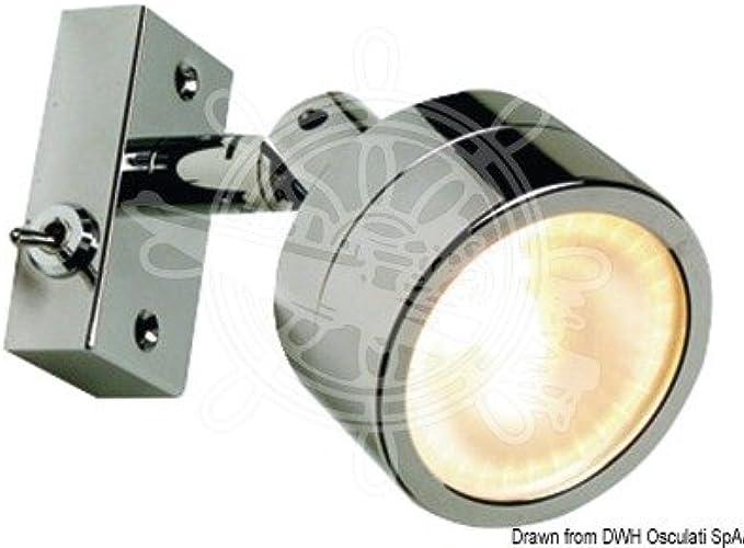 OSCULATI Spot articulé Laguna 1 LED HD 12 24 V