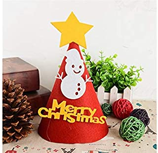 Christmas Party Christmas Child Hat Shape Non-Woven Christmas Hat Costume for Christmas Party(Snowman)