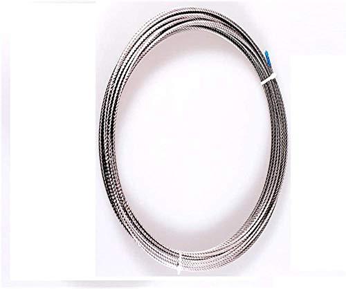 YAYY 10m 7 * 7 0,6mm 0,8mm 1mm 1,2mm 1,5mm 2mm 304 Cuerda de Acero Inoxidable Cuerda de Alambre tendedero Suave Pesca Cable de elevación Cuerda de Alambre-0,8 mm 10 M Upgrade