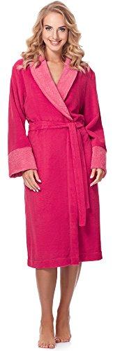 Merry Style Bata Larga Vestidos de Casa Ropa Mujer MSLL1003 (Coral/Rosa, S)