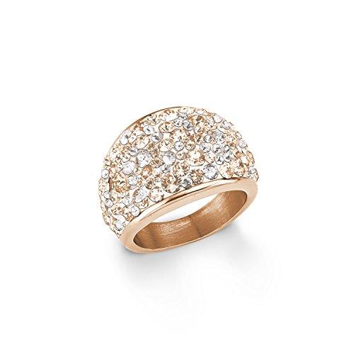 s.Oliver Damen-Ring 16 mm Swarovski Elements Edelstahl Kristall mehrfarbig Gr. 60 (19.1) - 567534