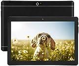 Tablette Android 7.0 Nougat 10 Pouces avec Deux Fentes pour Carte Sim Octa Core 3G Déverrouillé pour Tablette de téléphone 4 Go de RAM 64 Go de ROM Construit en WiFi Bluetooth 4.0 GPS (Noir)