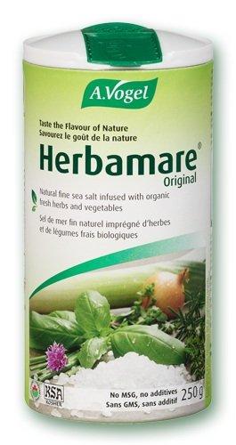 Herbamare®   Sal marina no refinada con plantas aromáticas y hortalizas frescas BIO para una vida sana y sabrosa   250 gr   A.Vogel