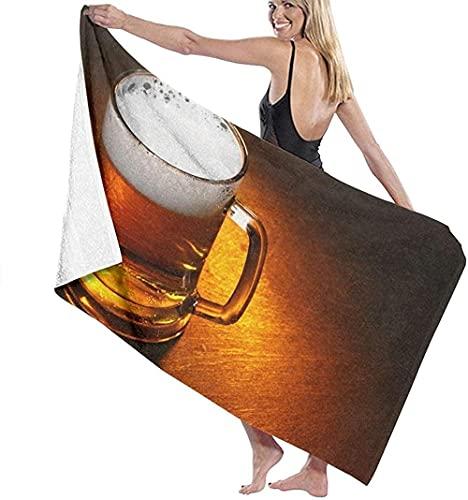 LUYIQ Toalla de Playa Grandes de Antiarena de Microfibra para Hombre Mujer, Jarra de Cerveza Cerrar -150x70cm, Toallas Baño Secado Rapido para Piscina, Manta Playa, Toalla Yoga Deporte Gimnasio