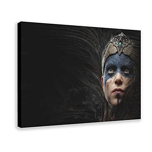 Game-Hellblade_ Senua's Sacrifice 8 poster su tela da parete decorazione per soggiorno, camera da letto, cornice 60 x 90 cm