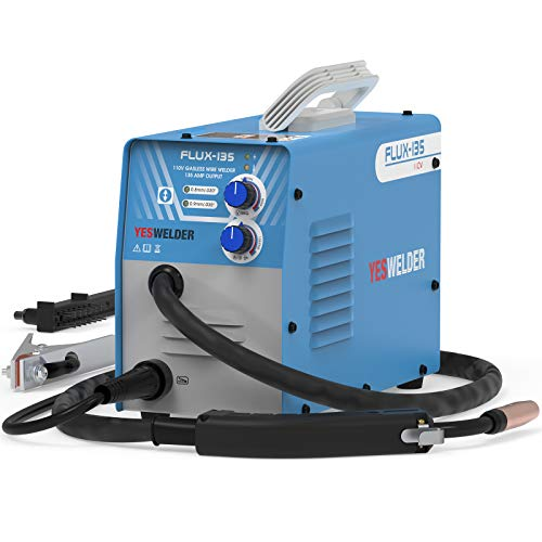 YESWELDER FLUX-135 Flux Core MIG Welder,135A Gasless IGBT Inverter Welding Machine 110V