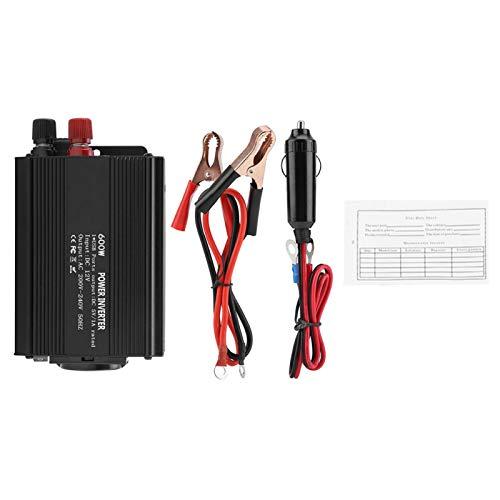 Inversor de corriente de 600 W, inversor de onda sinusoidal de corrección, convertidor de 12 V, convertidor de corriente de 220 V y 600 W con panel solar