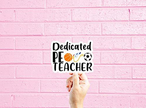 Lplpol Gym Teacher Stickers, Teaching Vinyl Stickers, MacBook Laptop Decal, Teacher Gift, Stickers for Laptops, Number one Teacher,Funny Sticker 6 inches