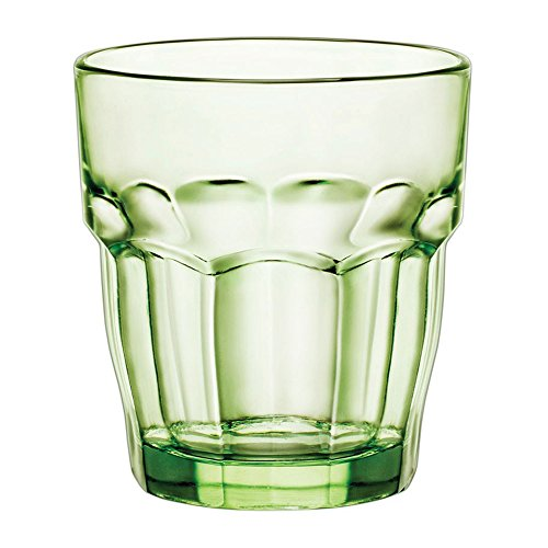 Bormioli Rocco Rock Bar Lounge Mint verre à whisky 270ml, vert, trempée, 6 verre