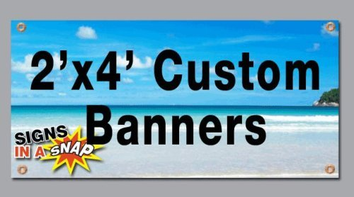 BANNER BUZZ MAKE IT VISIBLE 2' x 4' Custom Full Color Banners Vinyl Signs Digitally Printed