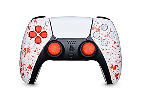 KING CONTROLLER PS5 Paddles Custom Design Red Bloody - DualShock 5 - PlayStation 5 - Wireless PS5-Controller