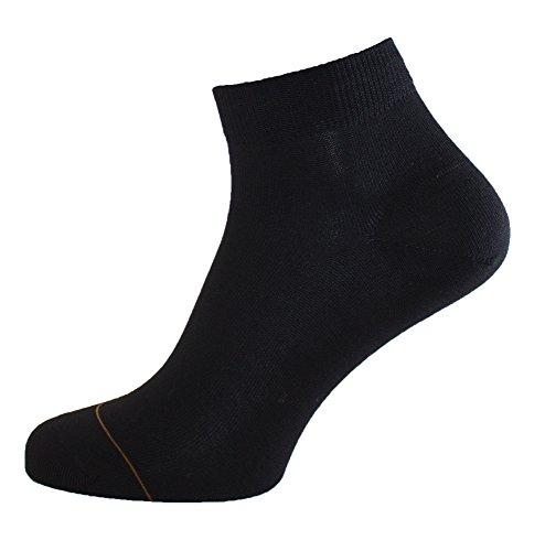 Albert Kreuz Damen Sneaker Socken Baumwolle mit Cashmere Innenseite Schwarz, 39-41