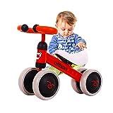 Arkmiido Bicicleta Bebé Equilibrio, Baby Balance Bicicleta, Bicicleta Bebé sin Pedales Juguetes Bebes Color Rojo 1-3...