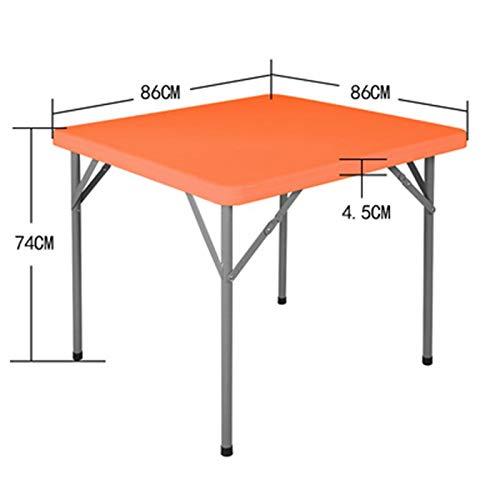HUOQILIN Huishoudelijke kleine klaptafel vierkante tafel Mahong eenvoudige draagbare tafel schaaf klaptafels