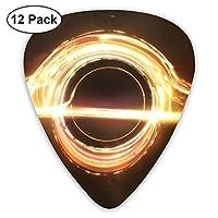 ダークイエローブラックホールエレクトリックギターとアコースティックギターに適したエレクトリックギターの絶妙な12ピースピック