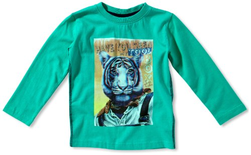 TOM TAILOR Kids Jungen T-Shirt 10243950082/longsleeve toolbox, Gr. 116/122, Grün (7335 cosmic green)