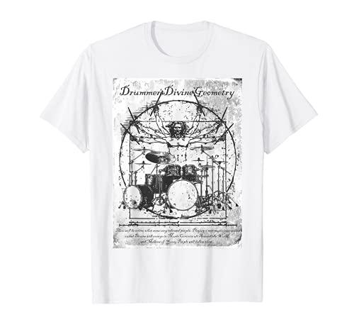 Schlagzeug Kinderschlagzeug Drummer Da Vinci Zeichnung T-Shirt