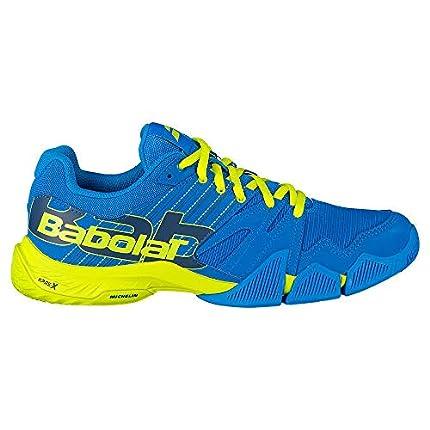 BABOLAT PULSA Men, Zapatillas de Tenis Hombre, Blue Aster/Sulphur Spring, 46 EU