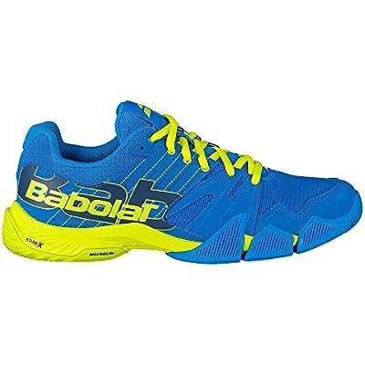 BABOLAT PULSA Men, Zapatillas de Tenis Hombre, Blue Aster/Sulphur Spring, 40.5 EU