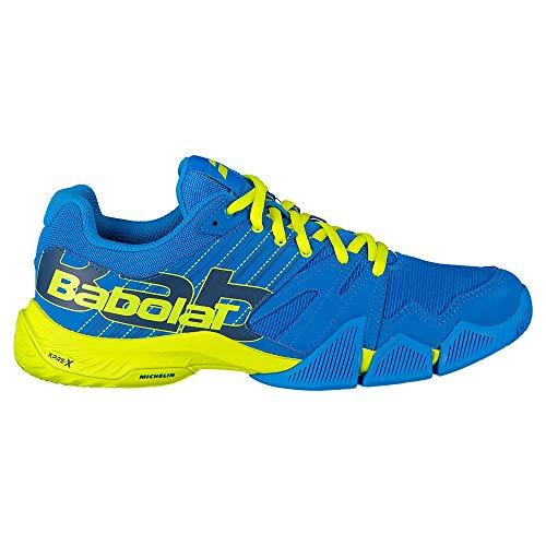 BABOLAT PULSA Men, Zapatillas de Tenis para Hombre, Blue Aster/Sulphur Spring, 46 EU