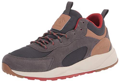 Columbia Men's Pivot Mid Waterproof Hiking Shoe, Dark Grey/Rust Red, 11