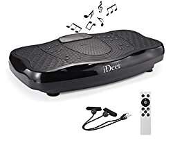 iDeer Vibration Platform Fitness Vibration Plates,Whole Body Vibration Exercise Machine w/Remote Control &Bands,Fit Massage Workout Vibration Trainer for Weight.Loss Max User Weight 330lbs.