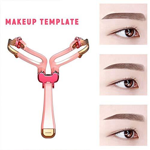 Pochoir de formes de sourcil ajustable, outil de modèle de modèle de maquillage, modèle de mise en forme de règle d'équilibre, pochoirs réutilisables de sourcils de styles