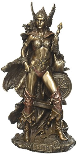Veronese Design Frigga Norse Goddess of Love Marriage and Destiny Standing Near Spindle Statue