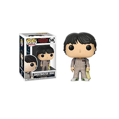 YYBB Pop TV: Stranger Things - Colección Cazafantasmas Mike Vinilo Figura Regalo Anniversary Edition Juguetes de la muñeca Figurines