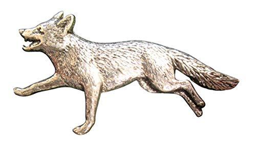 Brazil Lederwaren Ansteckpin Fuchs im Trab | für den Hut oder das Revers | Perfekt zum Jagd-Outfit | Anstecker Pin Button