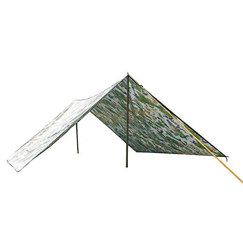 HXSJ Wearable Oxford Camuflaje Tienda de Tela a Prueba de Viento a Prueba de Lluvia Parasol Toldo Barbacoa Picnic Mat Impermeable 3 * 3m