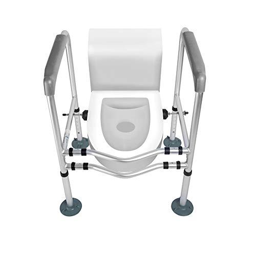 Heyonear Toilet Rails for Elderly Adults Toilet Rails Freestanding Frame Anti Rust Bathroom Support for Toilet Safety Bathroom Assist Bar