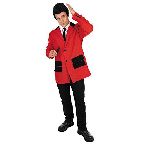 Fun Shack FN2790XL kostuum, heren 50s rode Teddy jongen pak, X-Large