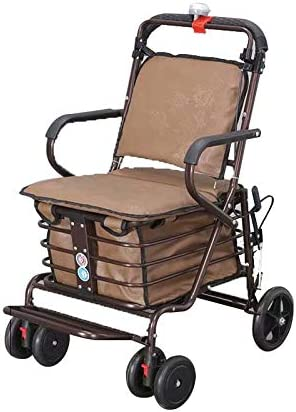 IPOUJ Elderly Scooter Foldable Shopping Seat Can Philadelphia Mall Sit on Four Tulsa Mall Whe