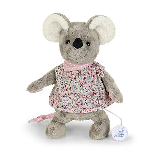 Sterntaler Spieluhr, Stofftier Maus Mabel, Austauschbares Spielwerk, Größe: M, Mehrfarbig/Grau