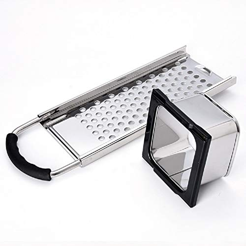 Stainless Steel Spaetzle Maker Homemade Noodle Dumpling Making Tool with Safety Pusher and Comfortable Rubber Handle