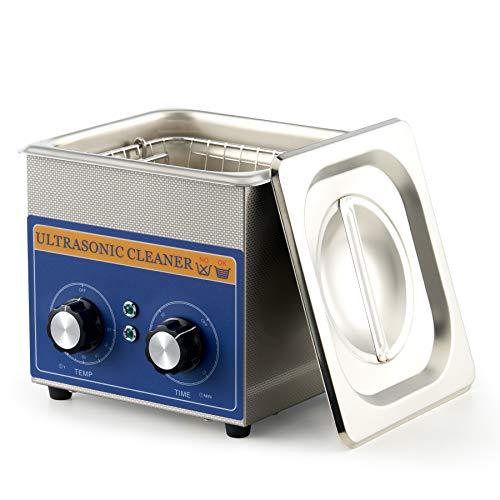 CO-Z 1.3L 60W Limpiador Ultrasónico Profesional con Calentador y Temporizador Limpiador de Ultrasonidos de Acero Inoxidable Máquina de Limpieza Ultrasónica para Joyas, Reloj y Gafas (1.3L)