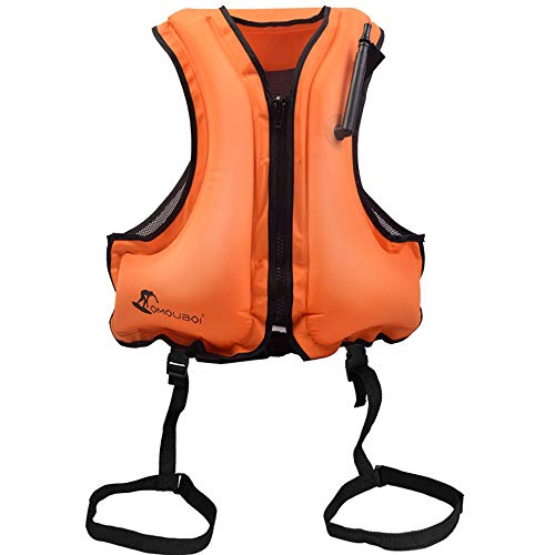 JUZIPI Chaleco flotante para adultos Chaquetas inflables de ayuda a la flotabilidad para nadar,Chaqueta de flotación segura Chalecos de buceo con esnórquel para canotaje,kayak,piragüismo,80-220 libras