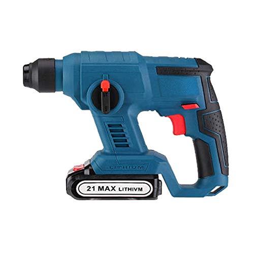 Taladro 21V martillo eléctrico sin cuerda de iones de litio martillo perforador eléctrico martillo de impacto con luz LED (Color : 1)