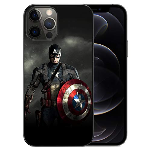 WZFT Slim Fit Case Compatible with iPhone 12 Pro Max 6.7 inch (2020), Comics TPU Full Body Protection Shockproof Cover (Captain-America-2)