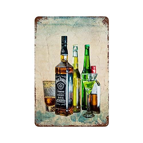 Targa da appendere alla parete con scritta 'Wine Drinks such AsCafe Bar Pub Beer Vintage Sign 20 x 30 cm