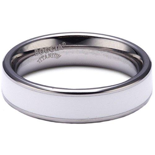 Boccia Damen-Ring Titan weiß Gr.50 0123-0650