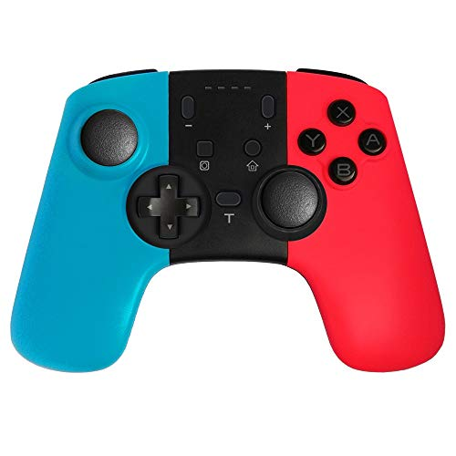 Limeinimukete Headset Bluetooth Wireless Switch Controller Pro pour Switch Console - avec Touches de Programmation + Coque Couleur + Gyroscope intégré + Fonction PC/Android 3 en 1 Compatible
