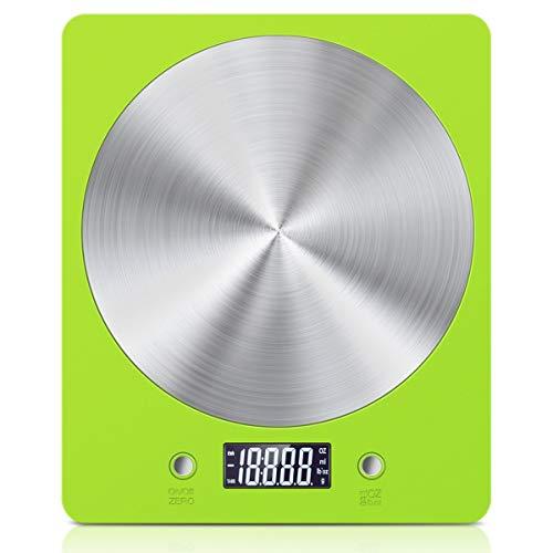 AMIR Digitale Küchenwaage, Elektronische Lebensmittelwaage (11 lb / 5 kg) - Grün