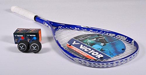 VICTOR Squashschläger Set Red Jet XT, 1 Racket / 2 Bälle